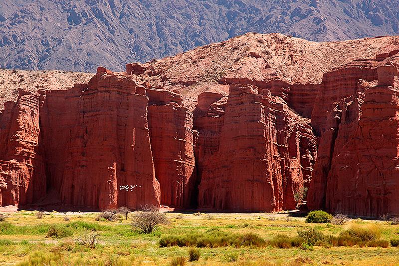 Paysage de la quebrada de las Conchas, Argentine - 2014