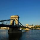 Hongrie - Budapest, le pont à chaînes sur le Danube - 2009