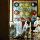 La curiosité l'emporte sur la prière, temple Cao Dai de Tay Ninh, Vietnam, 1997