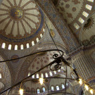 Intérieur de la mosquée bleue, Istanbul, Turquie - 2009