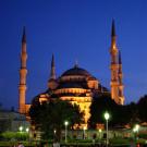 Turquie - Istanbul, la mosquée bleue entre chien et loup - 2009