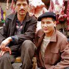 Bouchers Ouïghours dans le marché de la vieille ville - Kashgar, Xinjiang, Chine, 2005