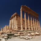 Le temple de Bel (côté est) dans le sanctuaire du même nom, sur le site de Palmyre, Syrie, 2010