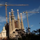 Sagrada Familia, les tours en construction, Barcelone - 2015