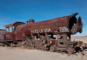 Vieille locomotive à vapeur, asi es la vida !