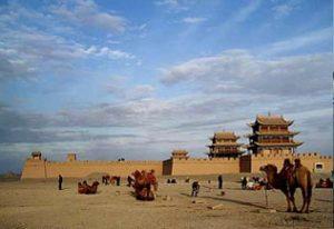 La forteresse de Jiayuguan sur la route de la soie, Chine