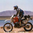 Arrivée au contrôle de passage du lac de Merzouga, raid de l'amitié, Maroc -1996